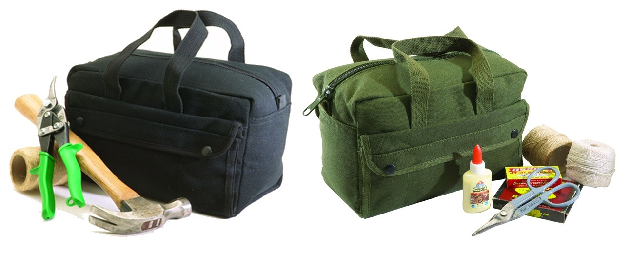 Canvas Tool Bag - Black or OD Green