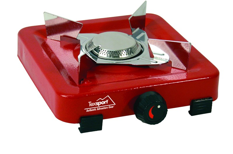 Camping Station Texsport Flat Single Burner Propane Stove Case