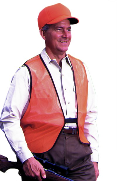 Optic Orange Mesh Safety Vest