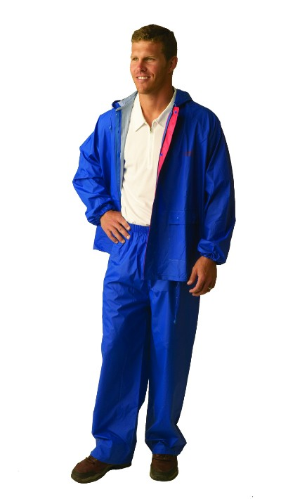 Two-Piece Laminated Nylon Rainsuit (Med - 3X)