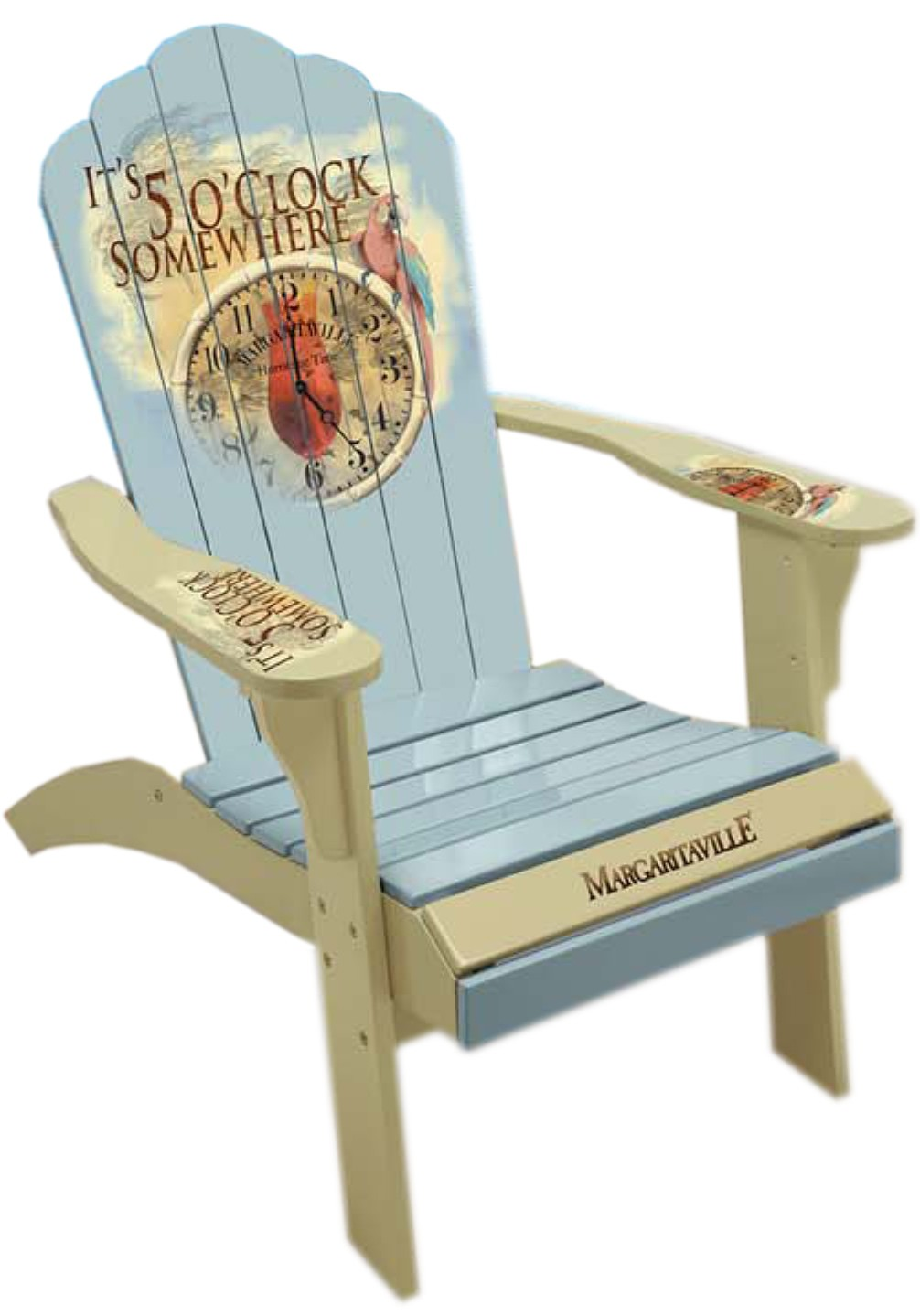 Camping Station Margaritaville Painted Quot 5 O Clock Time Piece Quot Adirondack Chair