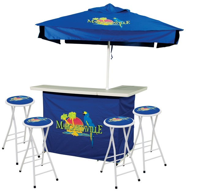 Margaritaville Parrot Portable Bar And Stools