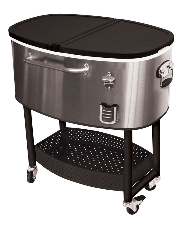 Oakland Living 80 Qt Patio Cooler Cart Outdoor Serving