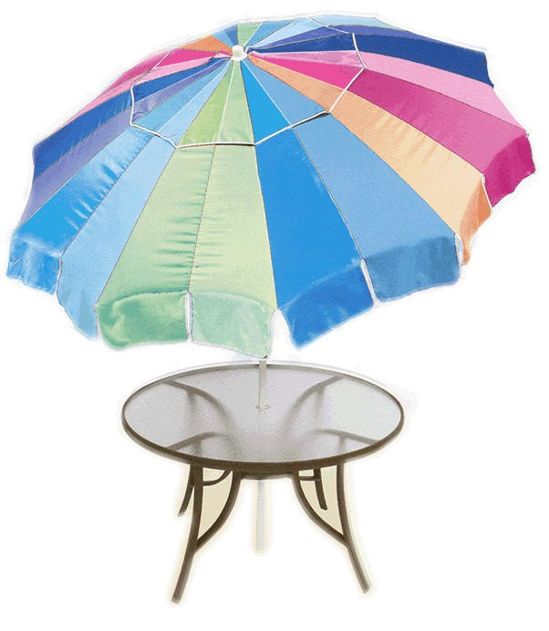 6 1/2' Sun Blocking Patio / Beach Umbrella