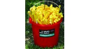 Bucket Packed (100) 12'' Plastic Tent Stakes