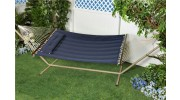 Comfort Classic Polyester Quilted Hammock With S Stitched Comfort Quilt - Denim Blue