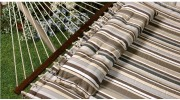Comfort Classic Polyester Quilted Hammock With S Stitched Comfort Quilt - Brown Stripe