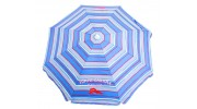 Tommy Bahama 6 ft. Sun Blocking Beach Umbrella - Blue Wide Stripes